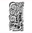 floral decorative silhouette vector image