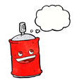 cartoon spray can with thought bubble vector image