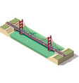 isometric suspension bridge vector image vector image