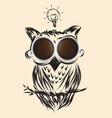 coffee owl business drawn icon symbol idea vector image