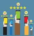customer feedback through the online channel vector image