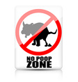 Dog pooping restriction vector image