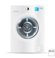 front load white washing machine isolated on a vector image