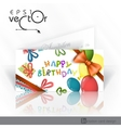 Invitation Card Design Template vector image