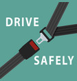 seat belt on green background vector image