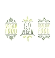 Vegan product labels vector image
