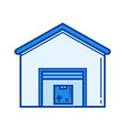 warehouse line icon vector image