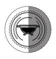 monochrome sticker round frame with kitchen vector image