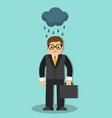 sad businessman in the rain vector image
