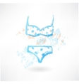 swimsuit grunge icon vector image vector image