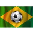 Brazilian country flag with soccer football ball vector image vector image