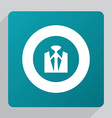 flat business wear icon vector image