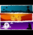 halloween scenes vector image