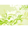 abstract green summer background vector image