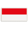 Indonesian flag post vector image