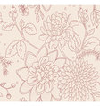 pattern flowers seamless vector image vector image
