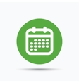 Calendar icon Events reminder sign vector image