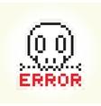 Error message skull vector image
