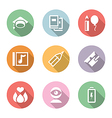 icon set education and science color with shadow vector image