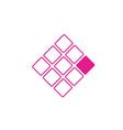 Nine squares business logo concept vector image