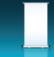 roll up with white background vector image