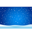 Snowfall and drifts vector image