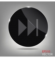 Glass button media icon vector image