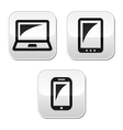 Laptop tablet smarthone vecor buttons set vector image vector image