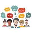 speech bubbles with group vector image
