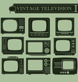 Vintage television I vector image vector image