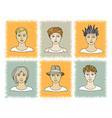 faces BOYS 1-2 vector image