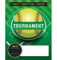 Softball Tournament Template vector image