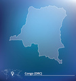 Map of Democratic Republic of the Congo vector image vector image