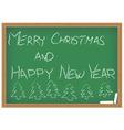 chalkboard with Christmas wish vector image