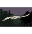 Flying owl with outstretched wings vector image