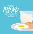 breakfast menu design vector image