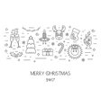 Christmas isolated concept from linear icons Flat vector image