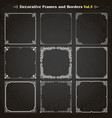 Decorative square frames and borders set 5 vector image