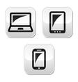 Laptop tablet smarthone vecor buttons set vector image