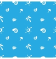 minimalistic sea objects seamless pattern vector image