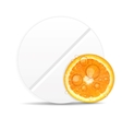 Orange pill iconEnvironment background vector image