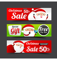 031 Collection of Merry Christmas Santa Claus tag vector image