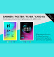 bright template with text grid trendy geometric vector image