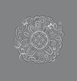 fantasy mandala silver ornament vector image