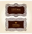 vintage frames labels vector decor vector image
