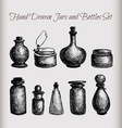 Vintage jars and bottles vector image
