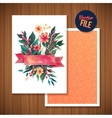Beautiful Floral Greeting Card Bright vector image vector image
