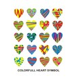 Colorfull Heart Symbol vector image