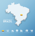Federal Republic of Brazil map vector image