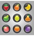 fruit machine icons vector image